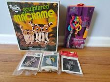 Lot Of 5 Vintage Macrame Craft Kits- Brand New!