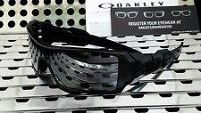 New Oakley 03-464 OIL RIG Sunglasses Matte Black w/Black Iridium Lenses