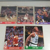 NBA Hoops 8x10 Action Photos Team Set Michael Jordan Magic Johnson Larry Bird