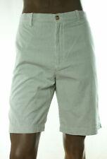 New Mens Izod Luxury Sport Green Seaside Flat Front Stripe Cotton Shorts 42