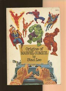 Origins of Marvel Comics by Stan Lee VG+ 4.5 * 1 Book * 6th Print! Fireside Book