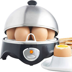 Electric Egg Cooker Boiler Steamer 7 Egg Non Stick Hard Boiled Auto Shut Off