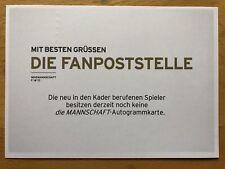 Deckkarte AK DFB WM 2018 Autogrammkarte