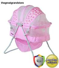 Baby Bassinet Cradle Bed Crib Sleeper Moses Basket Pink Cozy Nursery Girl  Infant
