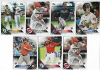 2016 Topps Update (7) Card Rookie Short Print Lot Full SP List Sean Manaea RC +