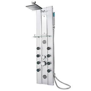 Pannello doccia a colonna a pioggia ALU idromassaggio effetto massaggio doccetta