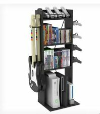Storage Rack Multimedia Black Dvd Cd Tower Shelf Organizer Games Disc Cabinet Br