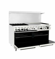 """ATOSA ATO-4B36G 60"""" GAS RANGE 4 OPEN BURNERS 36"""" GRIDDLE W/ TWO 26' WIDE OVEN"""