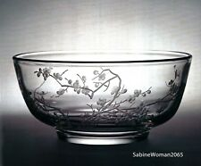 NEW in RED BOX STEUBEN Glass ORIENTAL PLUM BLOSSOM BOWL Vase crazy rich Asians !