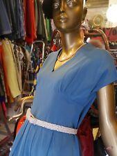 Sommerkleid S-M taubenblau Kleid 40er Pin Up Unikat TRUE VINTAGE 40s sun dress