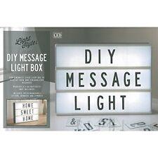 New Light Up Message Cinema A4 Lightbox Box Plastic Black/White LED Decor