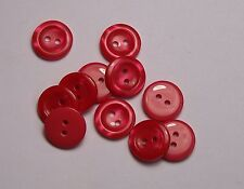 Pack of 10 Strawberry Red 16mm 2 Hole Kid Cardigan Baby Button 0134