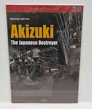Kagero Publishing Top Drawings 38 - The Japanese Destroyer Akizuki         Book
