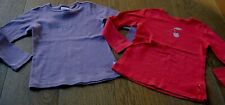 2 X GIRLS FRED BARE LONG SLEEVED TOPS  SZ 6