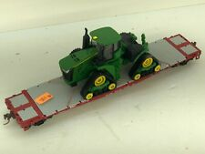 Showcase Line 50' flat with a JOHN DEERE 9470RX Track Tractor  Chained IN BOX