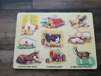 Melissa and Doug Wooden Puzzle - Farm and Vehicles - 9 Pieces