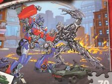 Transformers 70 piece MB Jigsaw Puzzle for kids age 5+ Hasbro EUC