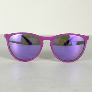 Preowned Ray Ban RJ9060S Matte Purple Mirrored Sunglasses Scratches, 50mm BG03