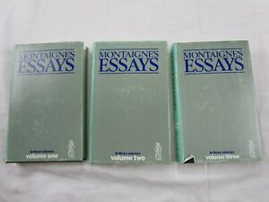 Montaigne's Essays 3 Vol. Set Hardcover with Dust Jackets