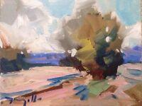 "JOSE TRUJILLO IMPRESSIONISM PLEIN AIR OIL PAINTING ABSTRACT Landscape 8""x10"""