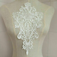 White Lace DIY Embroidered Sew Iron on Patch Badge Applique Dress Bag R1B6