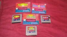 Virtual Boy Galactic Pinball Teleroboxer and Mario's Tennis with Manuals