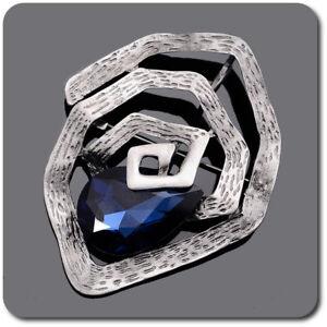 XXL Spilla Design Appendi Spilla Jackenschliesse Cristallo Sfaccettato Bla