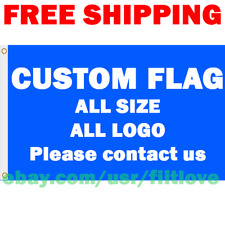 Custom Flag Banner Any Logo Picture Printed Any Size 3x5 ft Wholesaler