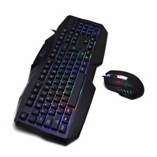 LED Gaming Keyboard Mouse Combo Bundle Computer Accessories 7 Colors Backlight