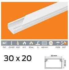 1,69 €/m 10m Kabelkanal PVC 30x20 mm Weiß Schraubbar