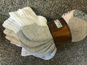 4 PR Gold toe moretz extra heavy Orlon acrylic low 1/4 socks men white power USA