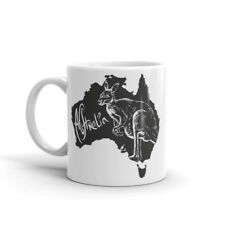 Beautiful Australia Map Mug - Gift Idea Travel Kangaroo Gap Year Sydney #4644