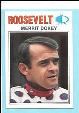 Rare 1977 Roosevelt Raceway Merrit Dokey Horse Harness racing Card
