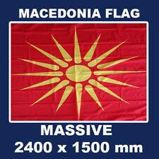 1992 - 1995 Macedonia Flag 8 x 5 ft Virgina Sun Old Macedonian Flag