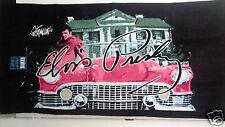 Elvis Presley  Retro Pink Cadillac Car Beach Bath Towel 30x60