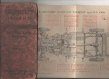 THE OPERATION INSTRUCTION FOR THE 14/56 H.P. WOLSELEY + LUBRICATION CHART HB