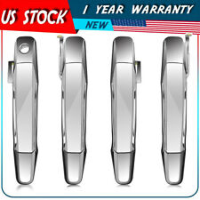 Chrome Outer Front Rear Door Handle Set/4 Kit for 07-13 Chevy Pickup Truck US