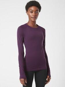 ATHLETA Momentum Top M Medium   Agate Purple Seamless NEW