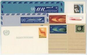 United Nations Stationary Stamp Postcards & Envelopes 1966-1972 Lot of 8 #14592