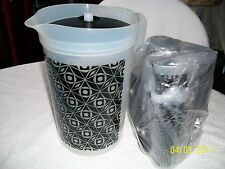 ARTWORK 1GAL INFUSION PITCHER & 6  DRINKING GLASSES WITH LIDS,2 FREE TUP W/ORDER
