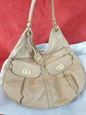 BADGLEY MISCHKA genuine leather shoulder handbag - Beige
