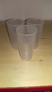 10 Multi Purpuse Glass Drinking Cup Pp Mug 200 ML Transparent Breakage