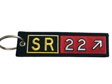 Cirrus Aircraft SR22 Airport Taxiway Sign Embroidered Keychain. Aviation gift