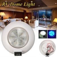 12V LED Deckenleuchte Deckenlampe Blau Weiß Leuchte ABS für RV Boot Marine