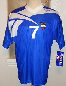 NEW REEBOK ECUADOR AGUINAGA #7 SOCCER JERSEY FOOTBALL SHIRT COPA AMERICA 1995 SL