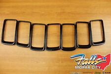 2014-2016 Jeep Grand Cherokee Gloss Black Trim Ring Grille Insert Set Mopar OEM