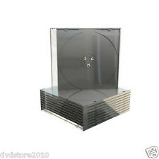 100 CUSTODIE Clear CD DVD Slimcase Singola 1 disco 5,2 MM ALTA QUALITA' BOX21-M