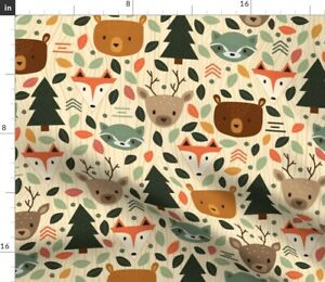 Woodland Creatures Animals Animal Creature Spoonflower Fabric by the Yard
