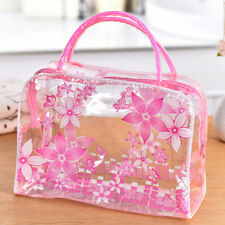 Clear PVC Flower Waterproof Makeup Toiletry Travel Wash Cosmetic Bag Pouch YF