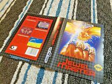 BOX ART ONLY Jewel Master Original Sega Genesis Case Sleeve